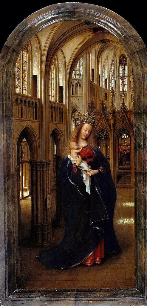 Maria och barnet är stora i Kyrkan. Väldigt tydligt att det här är kristen konst men måste det vara så tydligt på alla kristna bilder?