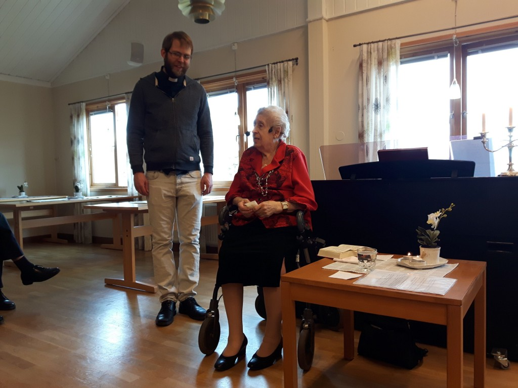 Brigitta Klasson och jag. Foto Bengt Larsson