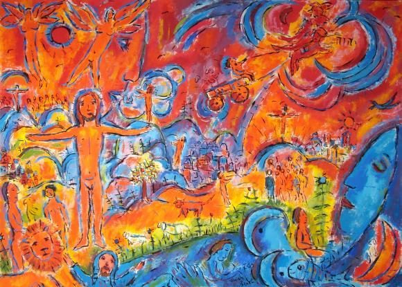 Ordet blev kött (här enligt konstnären Ulrich Leive). Fylld av nåd och sanning.