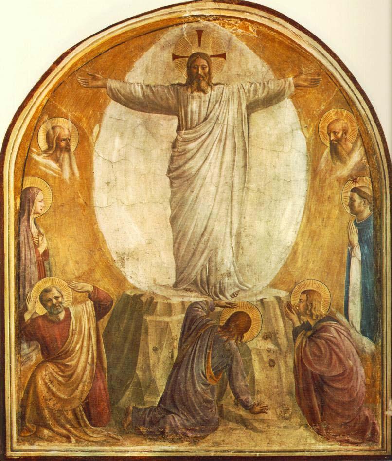 Jesus på berget med lärjungarna.
