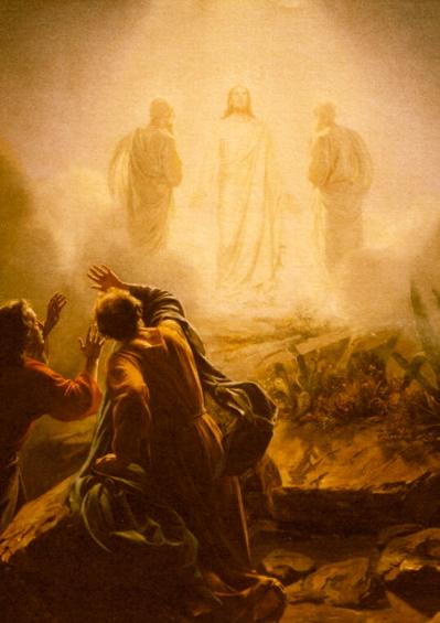 Jesus i bländande sken.