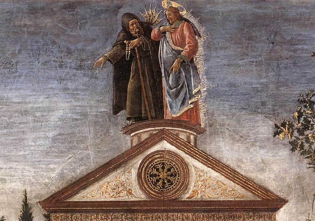 Djävulen visar Jesus världen med sina ögon. Varför tror du Djävulen är utklädd till munk?