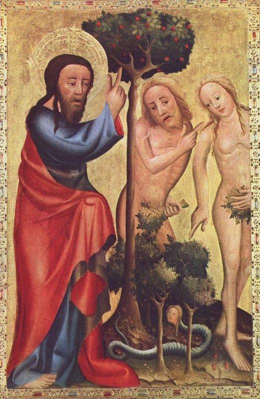 """Den allra, allra första församlingen med bara Adam och Eva. Gud: """"Tänk att ni inte ens kan hålla sams ni två?!"""""""