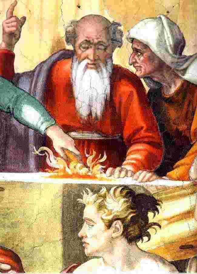 Noa (mycket gammal) offrar till Gud sedan han gått ur arken. Var även hans liv kort i backspegeln?