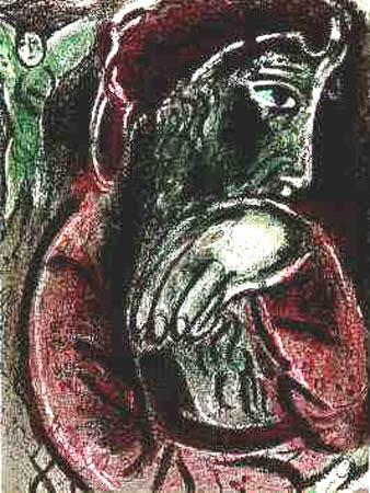 Chagalls bild av den lidande Job.