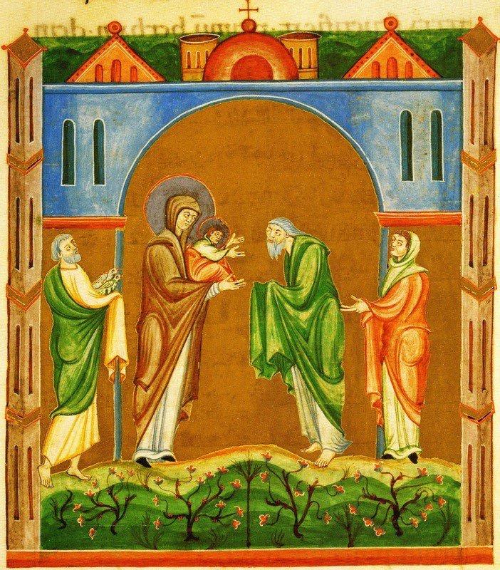 Jesus bärs fram i templet och träffar Symeon och Hanna!