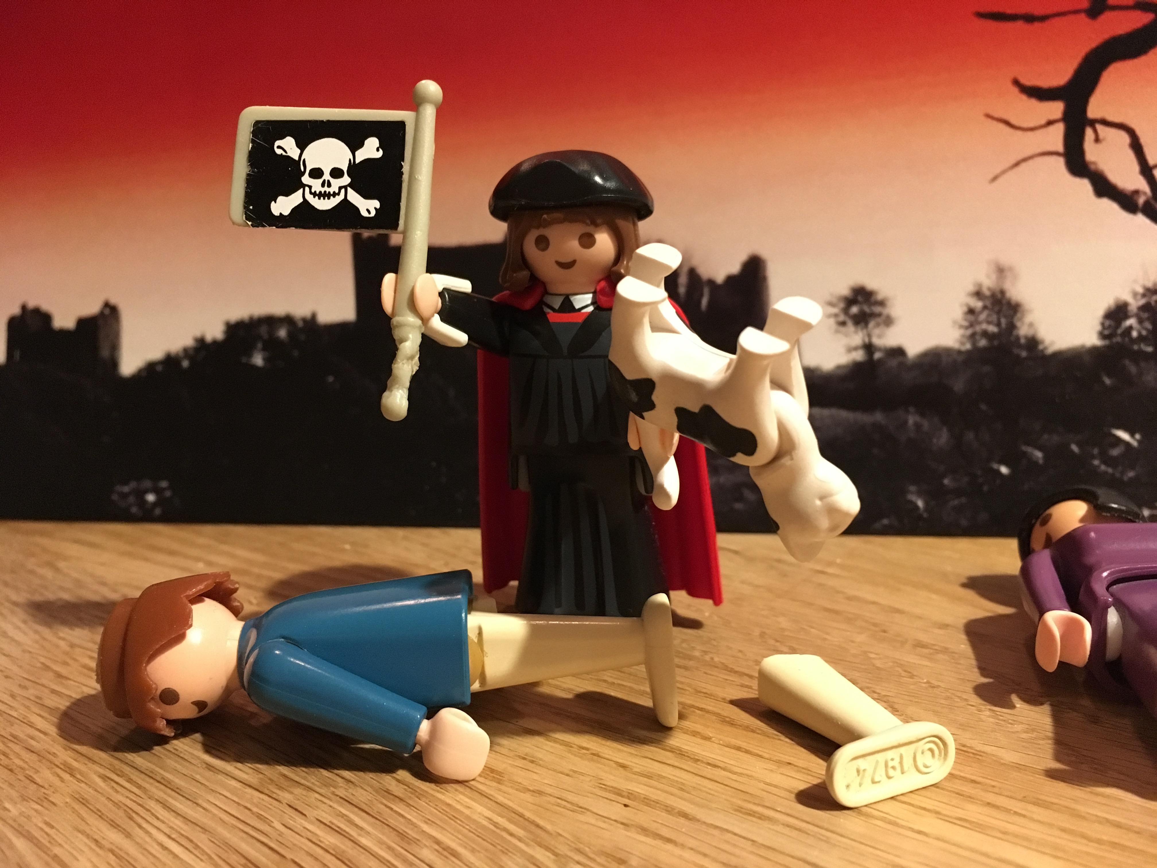 Bilden av Luther rymmer en del svärta också. Inte riktigt såhär dock.