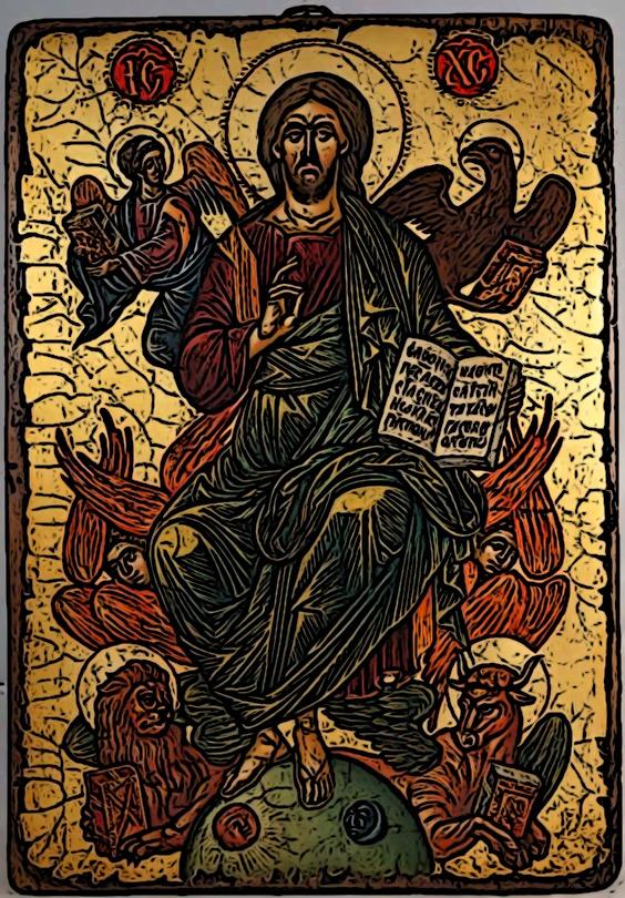 """Jesus som """"pantokrator"""", allhärskaren. Kokar man ner det hela så är det viktiga vad det betyder för oss av trygghet och förtröstan?"""