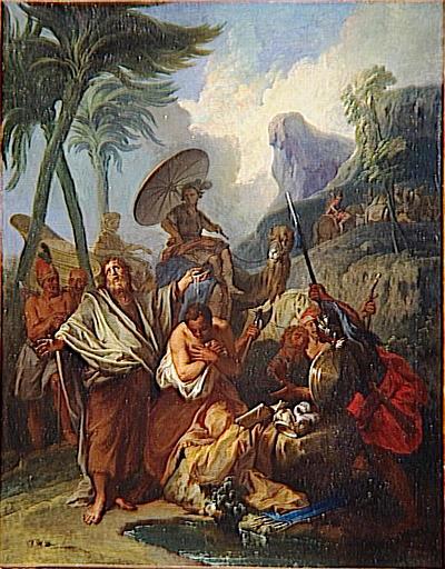 Glad över att ha hittat en så fin bild på när Filippos döpte den etiopiske hoveunucken!