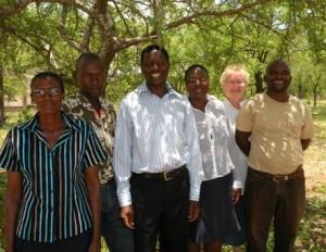 Kollegor på Thusanang: S Ndlovu, T Nare, G Dube, S Makhurane, A Jürisoo, D Muleya