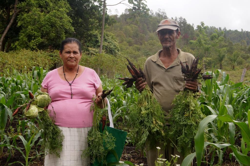 Don Maximiliano Aguirre and his wife Santos Normandina López. Foto: Mario Salinas/LVF Centralamerika