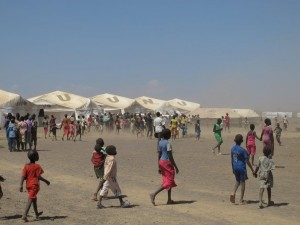 Dammigt och blåsigt i Kakuma flyktingläger. Foto: Ann Jonsson