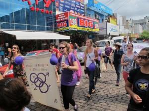 Manifestation på Internationella kvinnodagen i Rio de Janeiro. Foto: Adriana Gastellu Camp