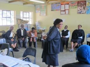 Workshop där söndagsskolelärare får utbildning i att tala med barn. Foto Kristina Göranzon
