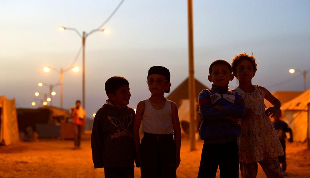 Barn i Za'atari flyktingläger. Foto: Magnus Aronson /IKON
