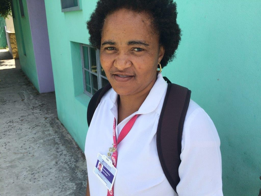 Thembisa Njomana, mentormamma med fyra års erfarenhet.  Foto: Herman Hallonsten