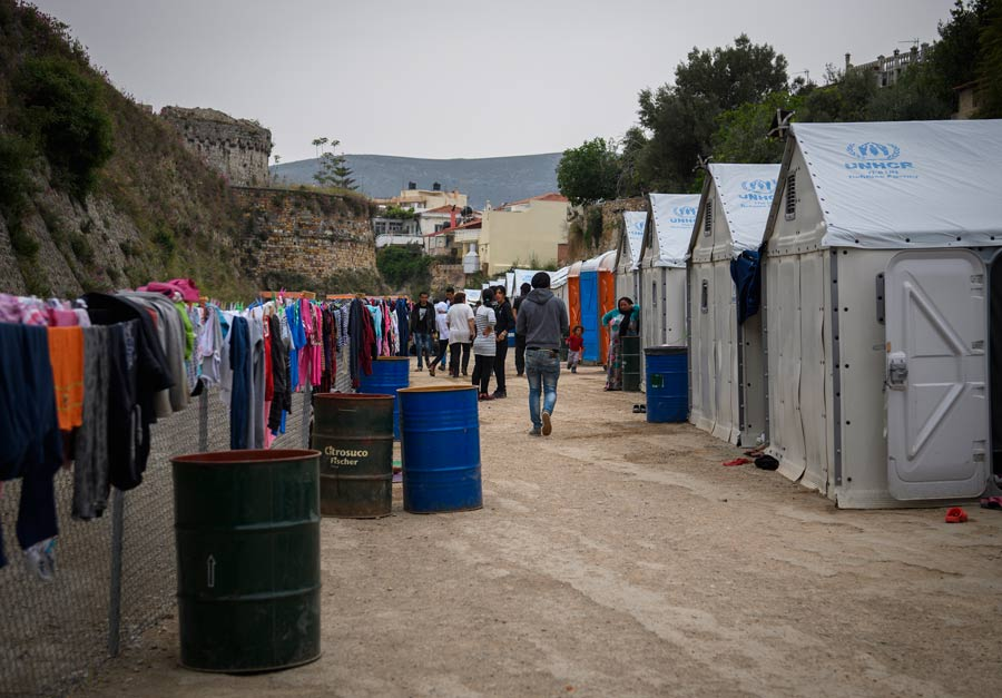 Flyktinglägret Souda på Chios. Foto: Magnus Aronson