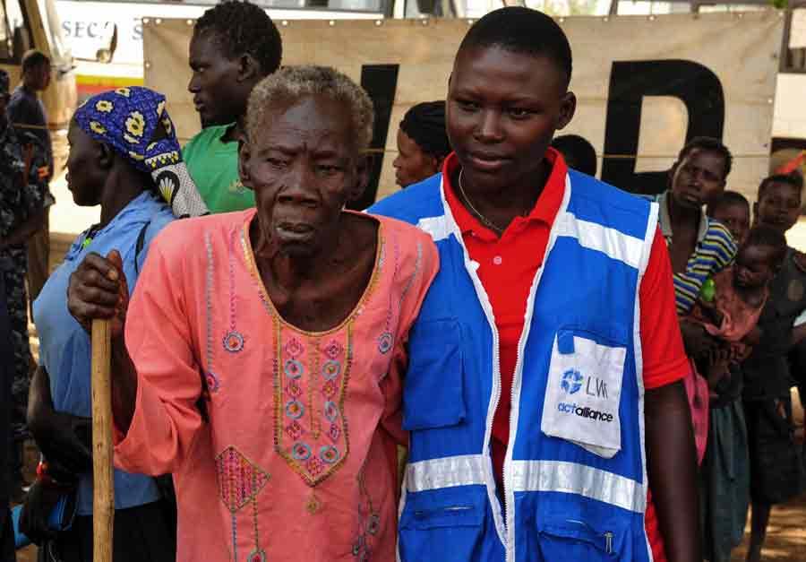 Av de 752 000 personer som flytt från södra Sydsudan till Uganda, har fler än 350 000 fått stöd från Svenska kyrkans partner, LVF.Foto: Cornelia Kästner /LWF/Ikon